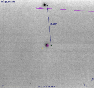 Asteroid 270 Anahita passing nearby a 12th magnitude Tycho-2 star