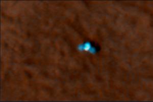 HiRISE camera acquired this image of the Phoenix landing site 22 hours after landing.Credit: NASA/JPL/University of Arizona