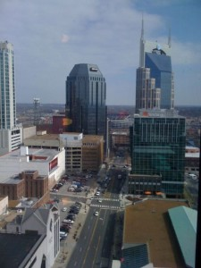 Nashville downtown from my hotel