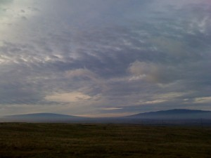 Typical landscape from the Big Island. The shield volcanoes...
