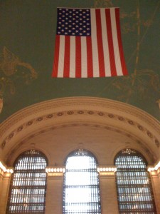 The ceiling of the Terminal Grand Station. Notice the constellations