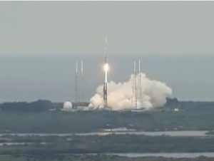 The Delta V rocket launched  on June 18 at 5:32 pm EDT (capture screen from NAS TV)