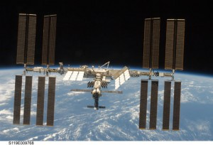 One of the most recent pictures of the ISS (credit NASA).