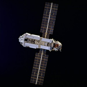 The Zarya Control Module was launched atop a Russian Proton rocket from Baikonur Cosmodrome, Kazakhstan, on Nov. 20, 1998 (credit NASA)