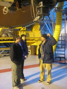 The team under the Cassegrain focus of the CFH telescope
