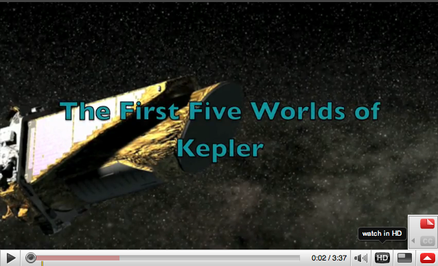 The First Five Worlds of Kepler - an animation movie by T. Darnell (click on the image to start the movie) o
