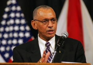 NASA Administrator Charles Bolden speaking about the future of NASA. (The Huntsville Times)