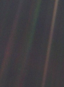 Picture of Earth taken by Voyager 1 in 1990