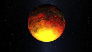 Artist concept of Kepler 10b (Credit: NASA)