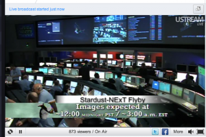 JPL-Mission Control at 11:05pm PST