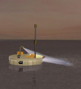 Artist rendering of the lake lander probe TiME (from Wikipedia)